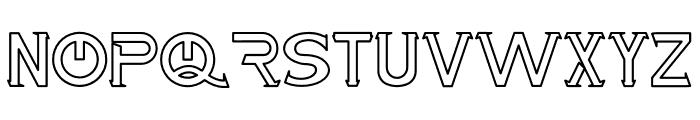 Maxwell Leonard Outline Font UPPERCASE