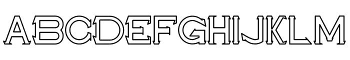 Maxwell Leonard Outline Font LOWERCASE