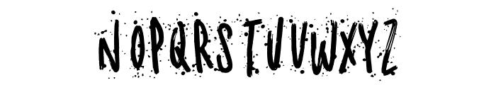 Meandyousplatter Splatter Font UPPERCASE
