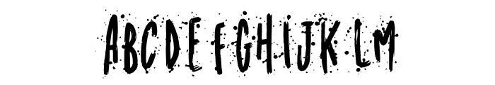 Meandyousplatter Splatter Font LOWERCASE