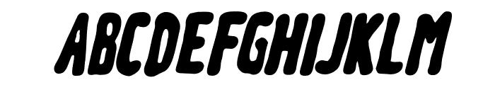 Meep-BlackSlanted Font UPPERCASE