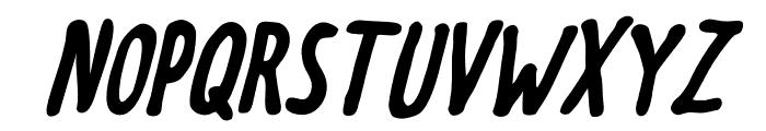Meep-BoldSlanted Font UPPERCASE