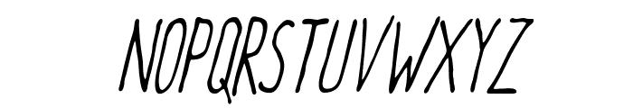 Meep Light Slanted Font UPPERCASE