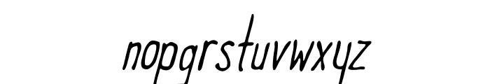 Meep Light Slanted Font LOWERCASE