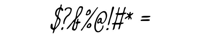 Meep-LightSlanted Font OTHER CHARS