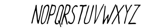 Meep-LightSlanted Font UPPERCASE