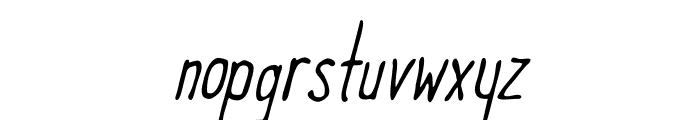 Meep-LightSlanted Font LOWERCASE