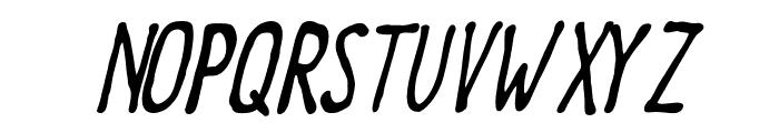 Meep-Slanted Font UPPERCASE
