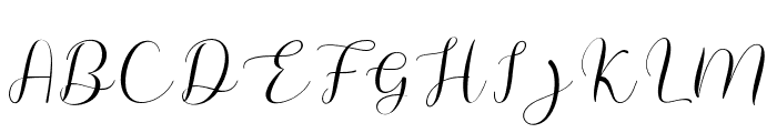 MeganNice Font UPPERCASE