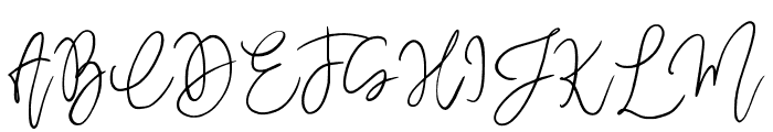 MegidameSignature Font UPPERCASE