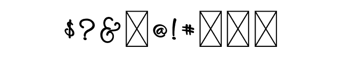 Melankolis Back Swash Font OTHER CHARS