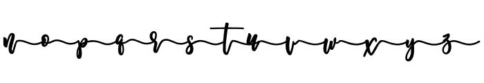 Melankolis Back Swash Font LOWERCASE