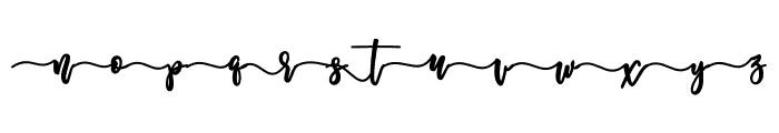 Melankolis Front Swash Font LOWERCASE