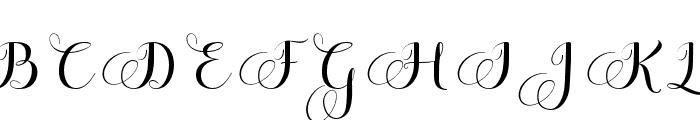 MelisendaScript Font UPPERCASE