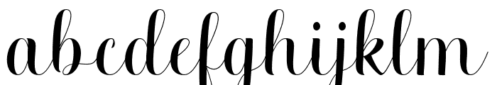 MelisendaScript Font LOWERCASE