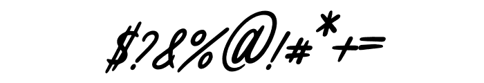 Melissa Italic Font OTHER CHARS