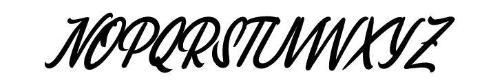 Melissa Italic Font UPPERCASE