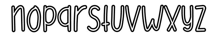 Mellinda Handmade Font LOWERCASE