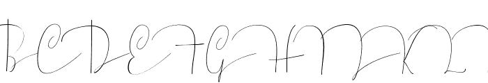 Mellonya Font UPPERCASE