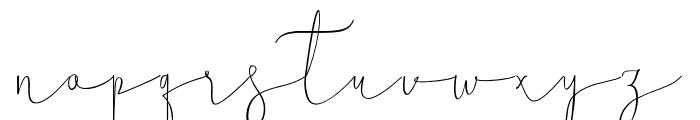Mellonya Font LOWERCASE