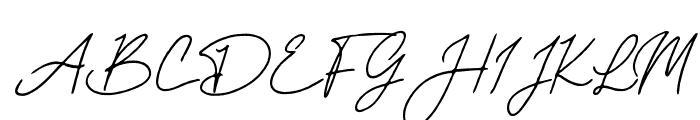 Mereoleona Script Font UPPERCASE