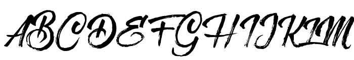 MessyScript Font UPPERCASE