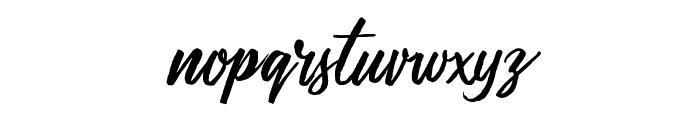 MessyScript Font LOWERCASE
