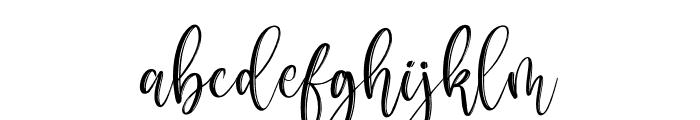 Metropolis Script Font LOWERCASE