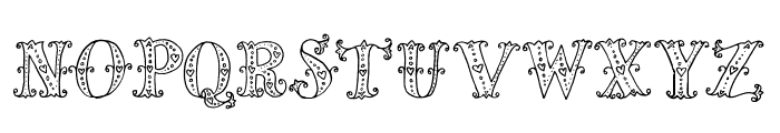 MiaBellaLighthearted Font UPPERCASE