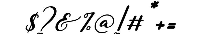 Miatta Italic Font OTHER CHARS