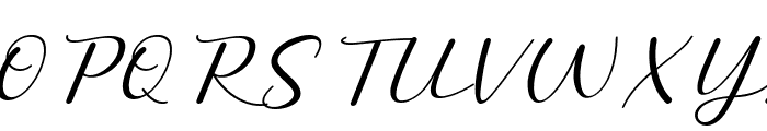 Miatta Italic Font UPPERCASE