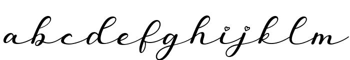Miatta Italic Font LOWERCASE