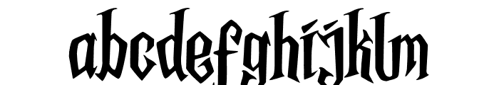 Midnight Minutes Font LOWERCASE