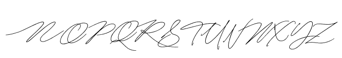 MightamBrush Font UPPERCASE