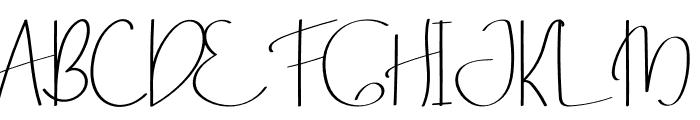 Mile Green Font UPPERCASE