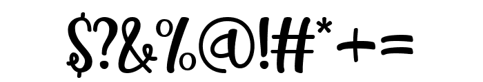 Milkshake Blueberry Font OTHER CHARS