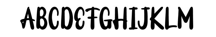 Milky Tasty Font UPPERCASE
