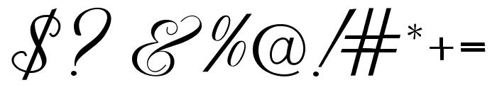 MillenialScript Font OTHER CHARS