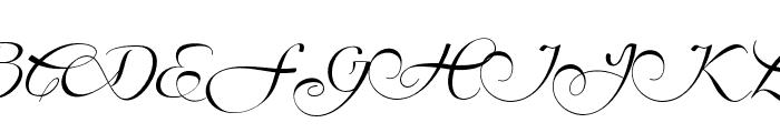 MillenialScript Font UPPERCASE