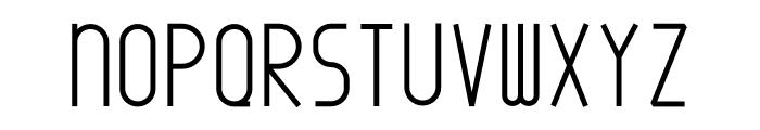 Minimal Bold Font UPPERCASE