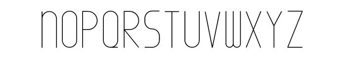 Minimal Font UPPERCASE