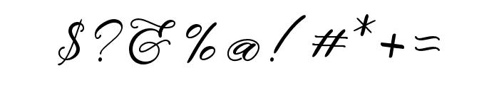 MinimalistScript Font OTHER CHARS