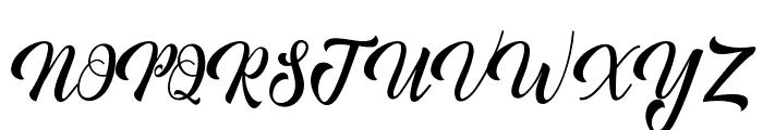 MinthasScript Font UPPERCASE