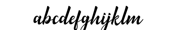 MinthasScript Font LOWERCASE