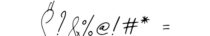 Mirages Regular Font OTHER CHARS