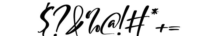 Mishella Italic Font OTHER CHARS