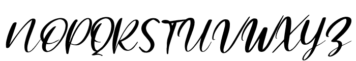 Mishella Italic Font UPPERCASE
