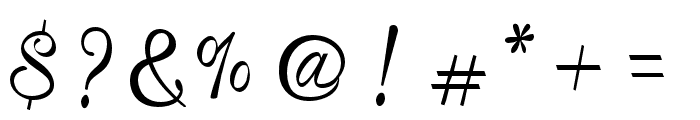 MistellaScript-Regular Font OTHER CHARS