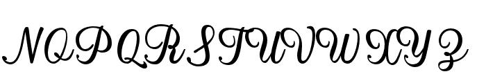 MistellaScript-Regular Font UPPERCASE