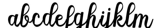 MistellaScript-Regular Font LOWERCASE